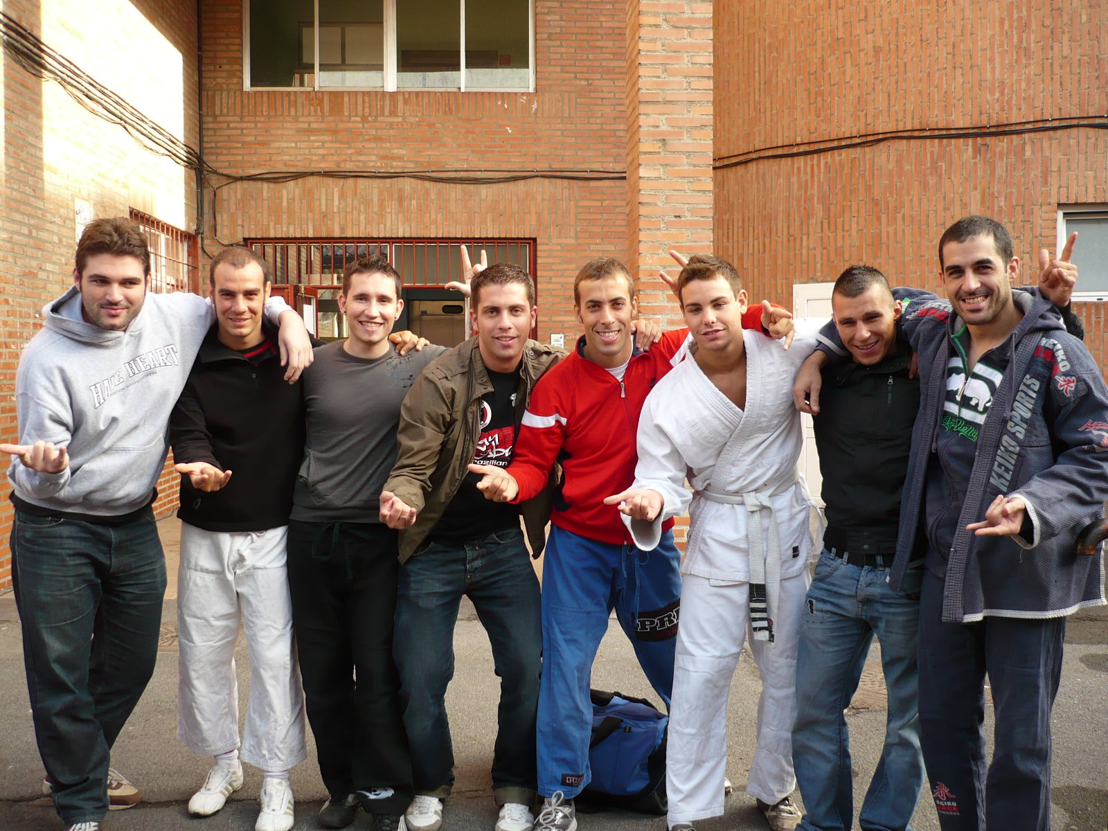 Equipo Aranha BJJ Barcelona en el lugar de la competición