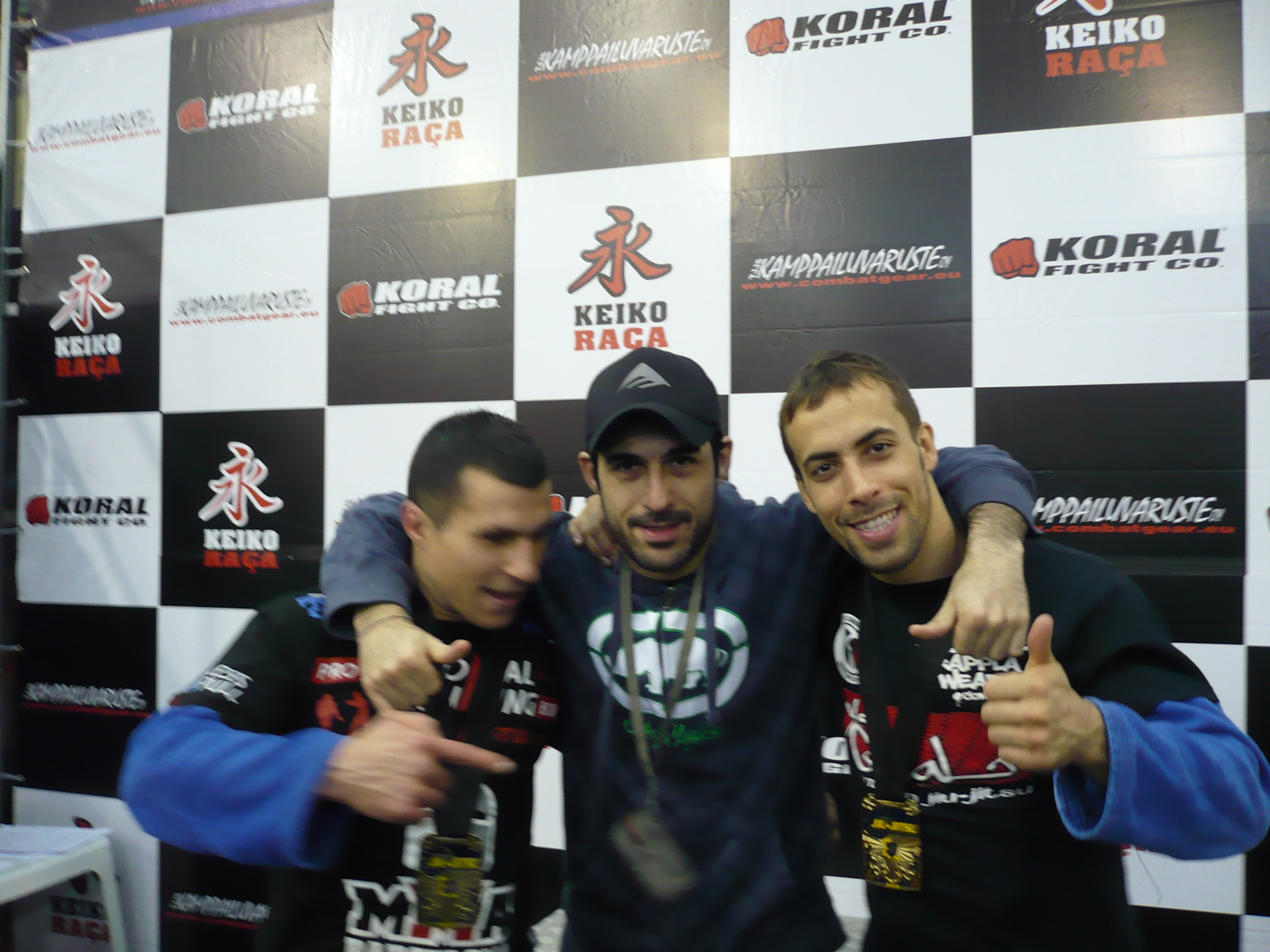David Aranda, Raul Poza 'El ninja' y Sergio Calderón