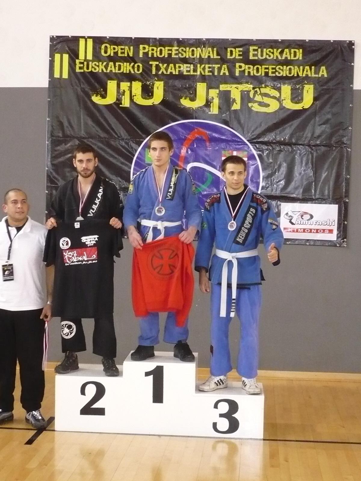 Dídac Lopez 'Espartano' en el podio