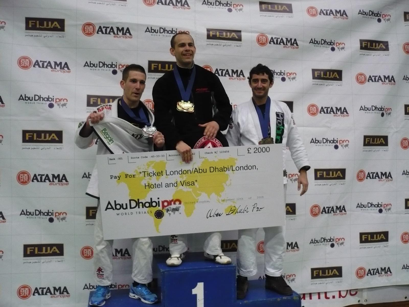 Herminio Garcia en el podio